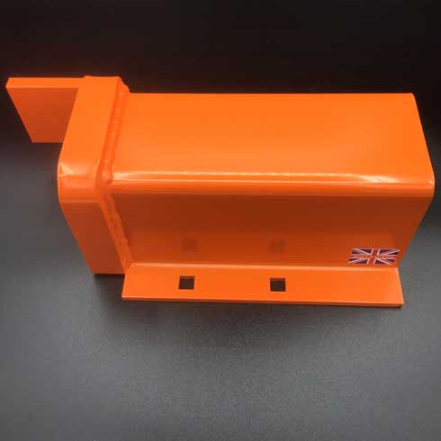 Mk5 for industrial metal gates left side anti lift plate for fitting under a right hooked posts