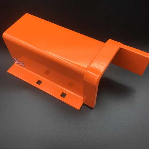 Mk5 for industrial metal gates right side anti lift plate for fitting under a left hooked post